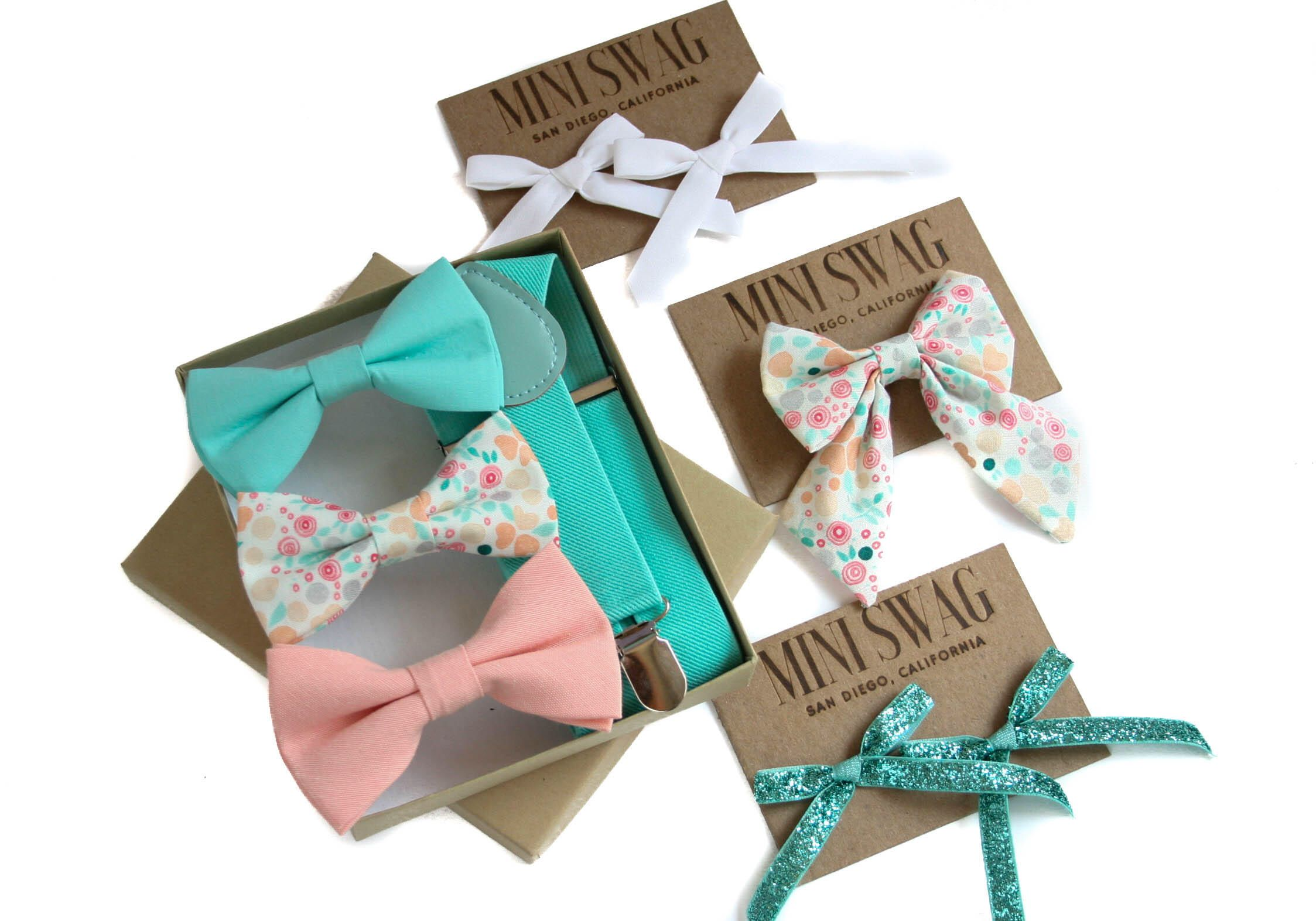 Baby bow tie set, toddler suspenders, boys bow tie and suspenders ...