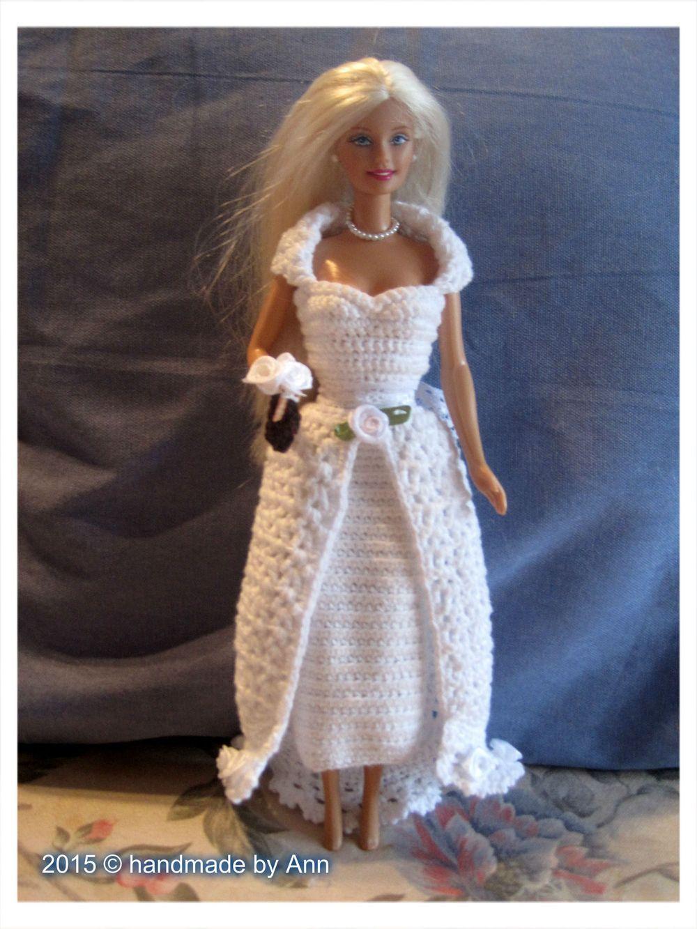 Barbie Trouwjurk Eigen Creatie Gratis Patroontje Barbie Crochet