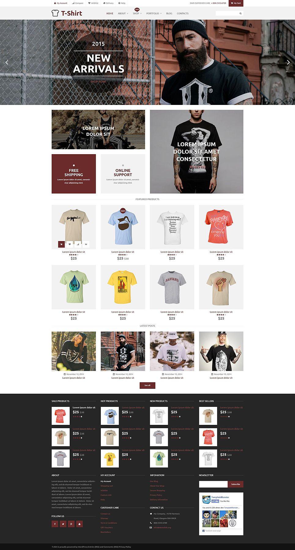 TShirt Shop Theme themes