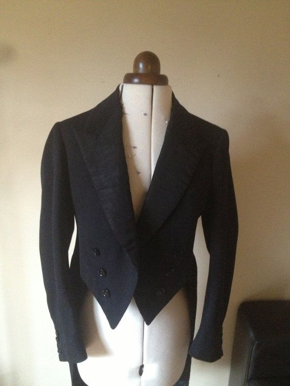 1920\'s Vintage Tailcoat. With original makers label sewn inside ...