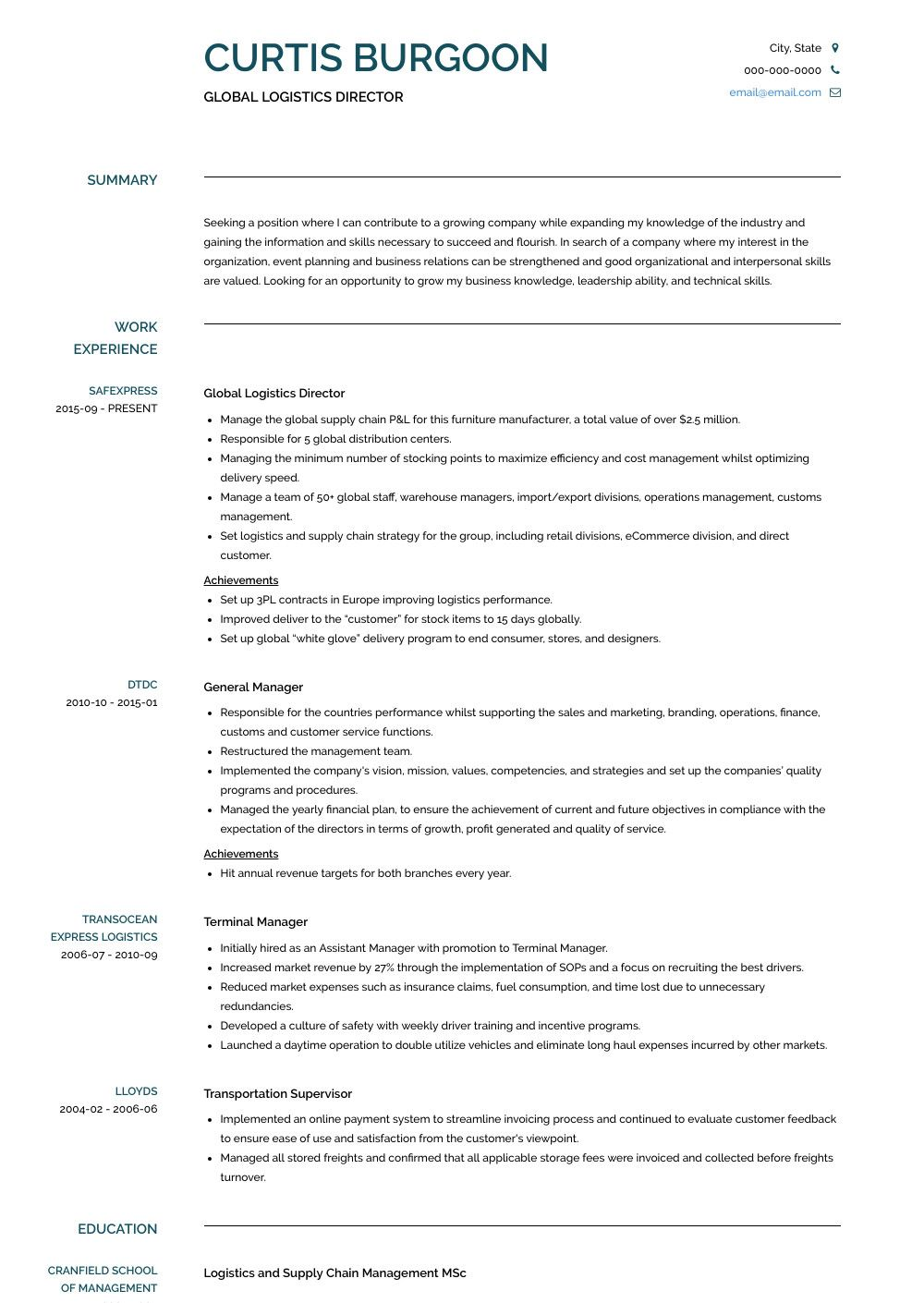 Supply Chain Manager Resume Supply Chain Manager Resume Samples