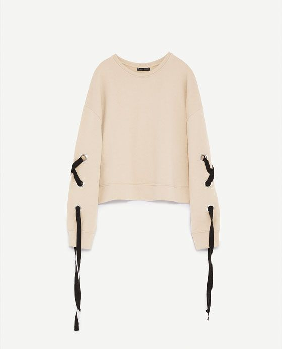 Image 8 of SWEATSHIRT WITH BOW from Zara