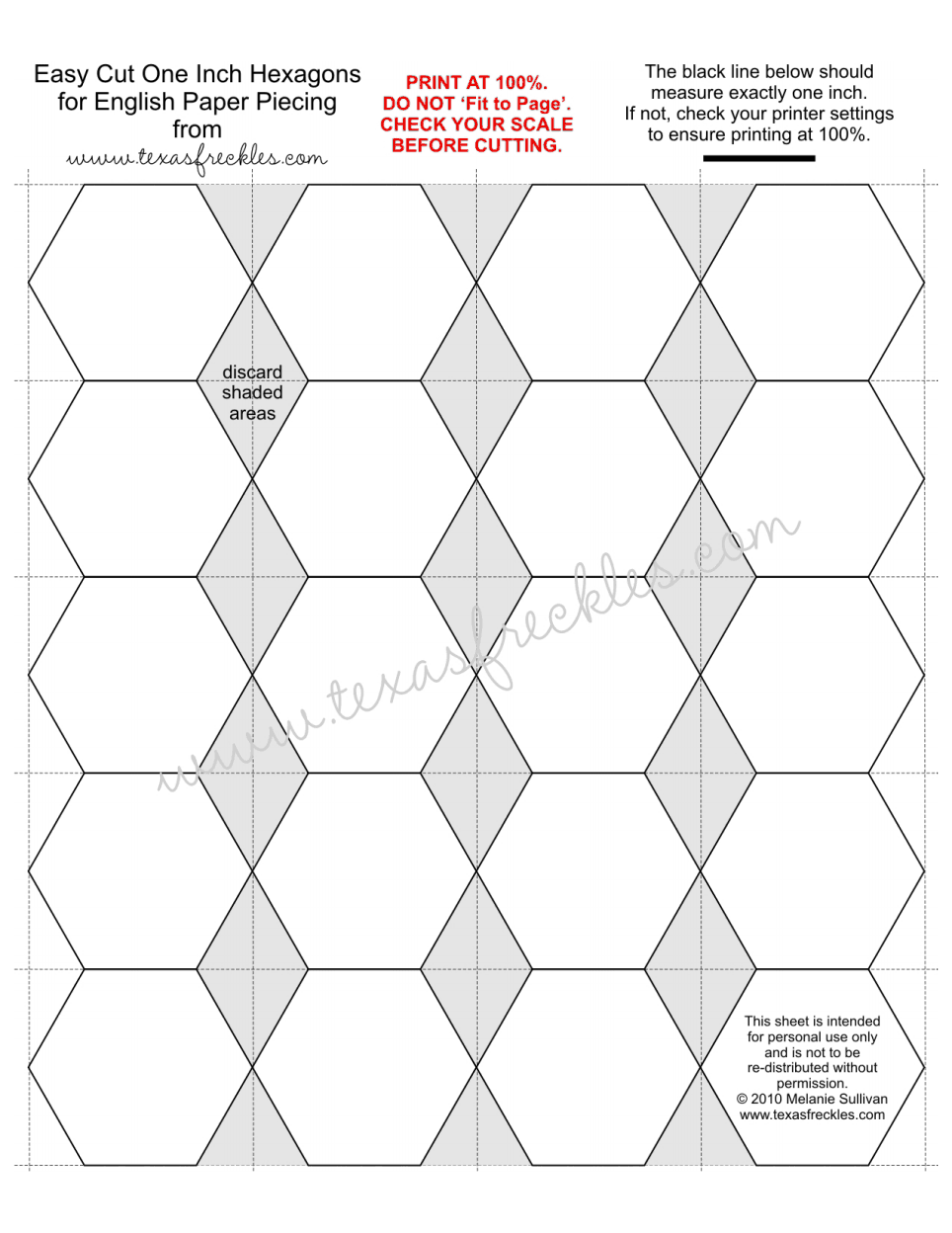 One Inch Hexagons.pdf | Sewing Projects | Pinterest | Paper piecing ...