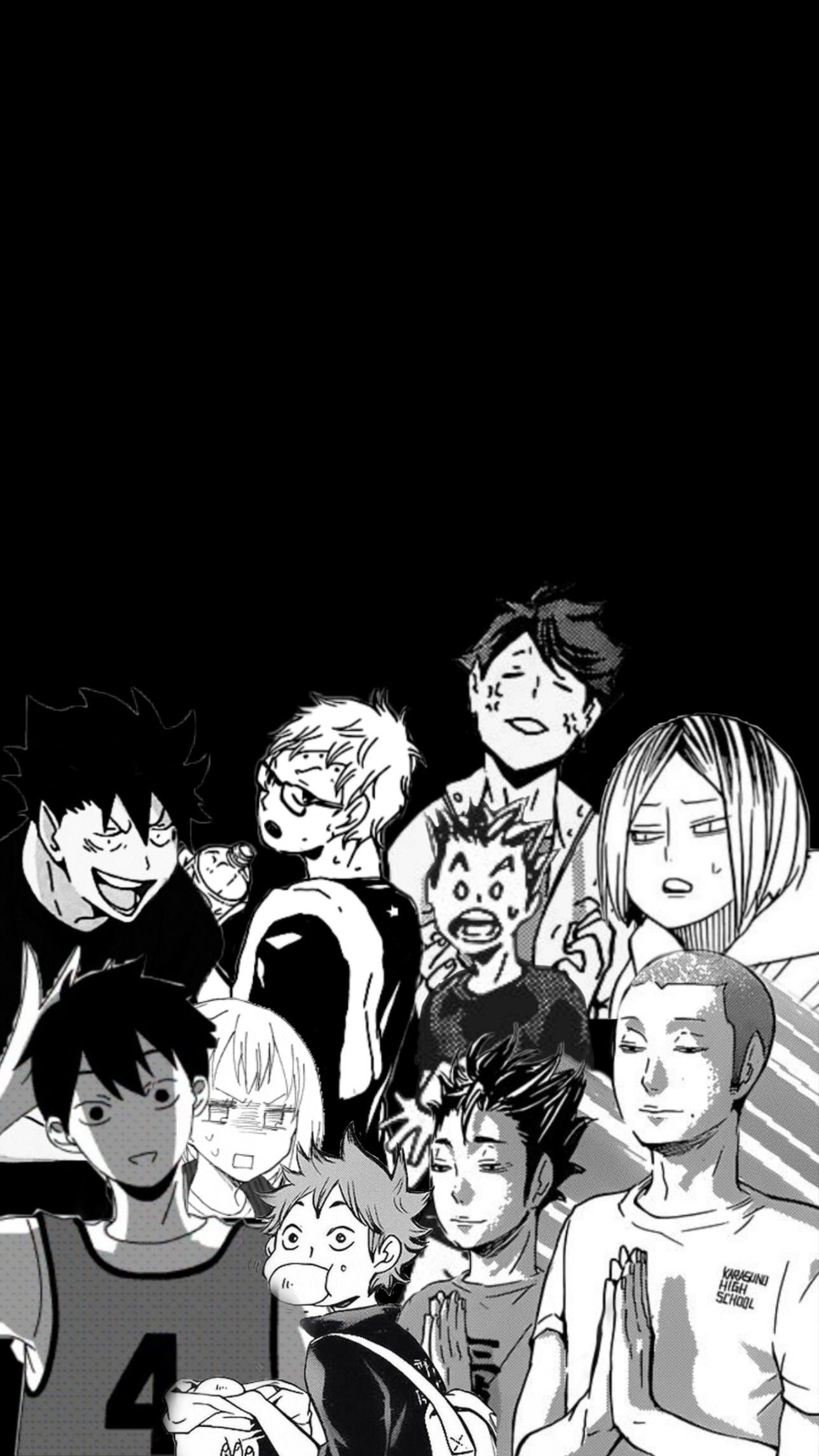 Haikyu In 2020 Aesthetic Anime Anime Wallpaper Iphone Black And White Wallpaper Iphone