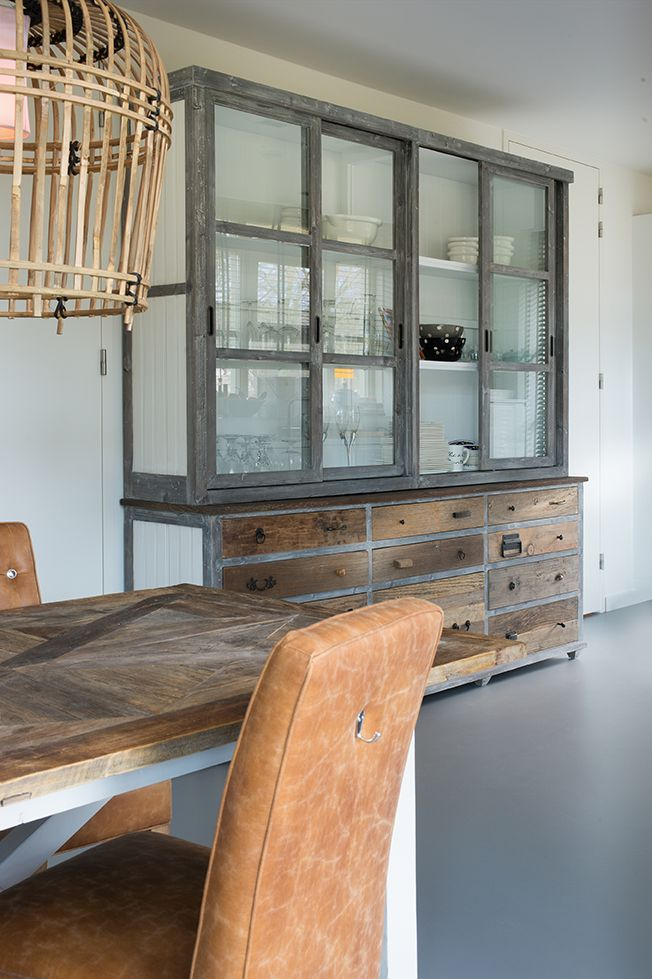 items industrial credenza rustic hutch furniture wood reclaimed combine portfolio with drawers vintage