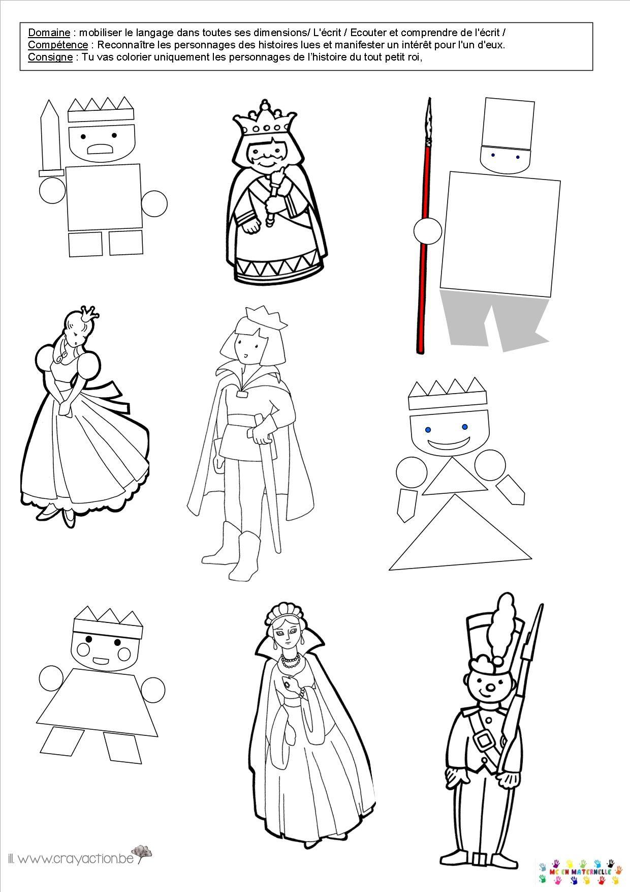 Le tout petit roi reconna tre les personnages – MC en maternelle