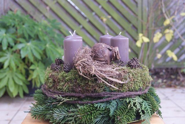 DIY - Adventskranz mit Amaryllis #amaryllisdeko