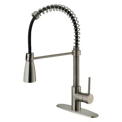 Vigo VG02003K1 Single Handle Pull Down Kitchen Faucet - VG02003STK1