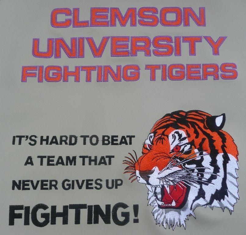Clemson university tigers football office chair seat pad