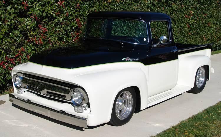Black White 1956 Ford Pickup Hot Rod Best Truck Wallpaper Cool Trucks Classic Ford Trucks 1956 Ford Pickup