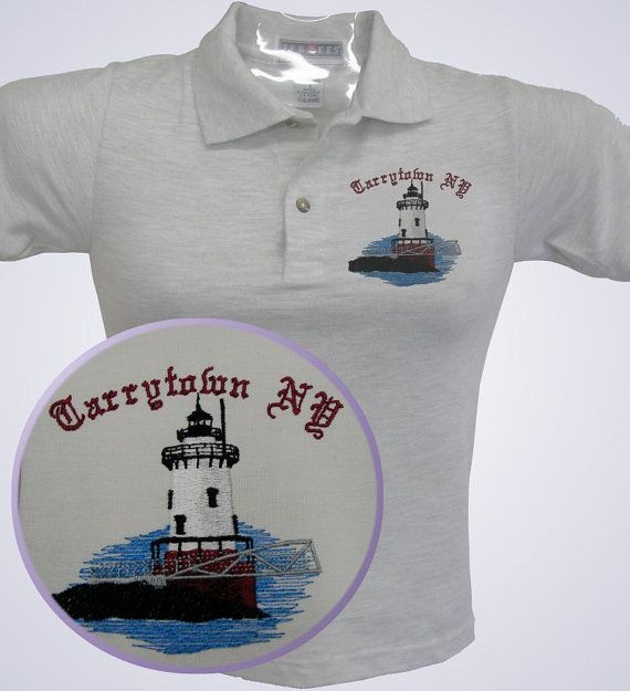 LIGHTHOUSE SHIRT Custom Embroidered TARRYTOWN New York  with your name if desired  by jeeplady2012, $19.99