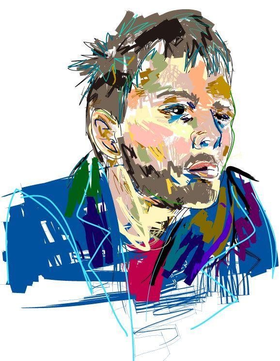 Thom Portrait by PaulJulianBanks.deviantart.com on @deviantART