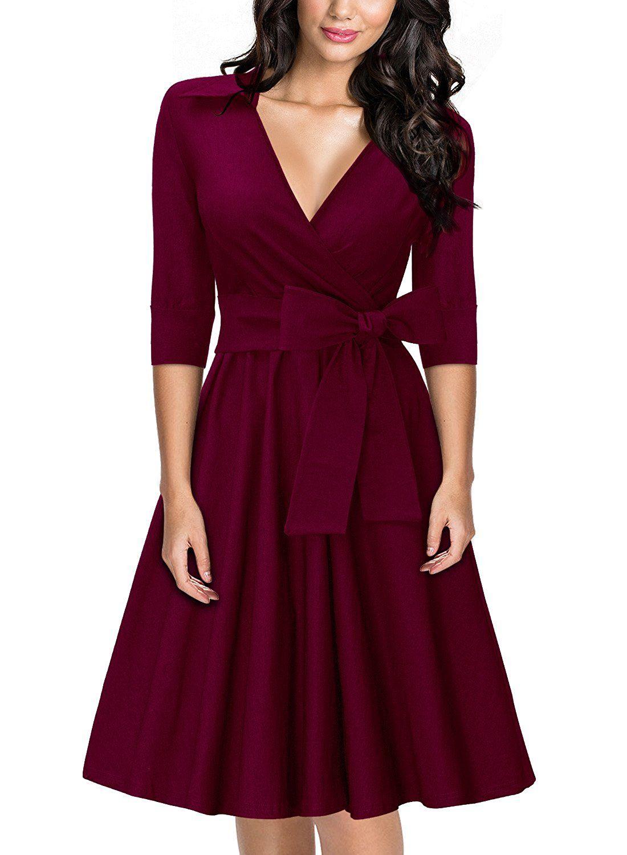 Miusol Women S Dress Purple 12 Amazon Co Uk Clothing Womens Dresses Classy Dress Fashion Dresses