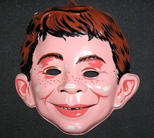 1960 MAD Magazine ALFRED E. NEUMAN Halloween Mask - Collegeville Mint | eBay