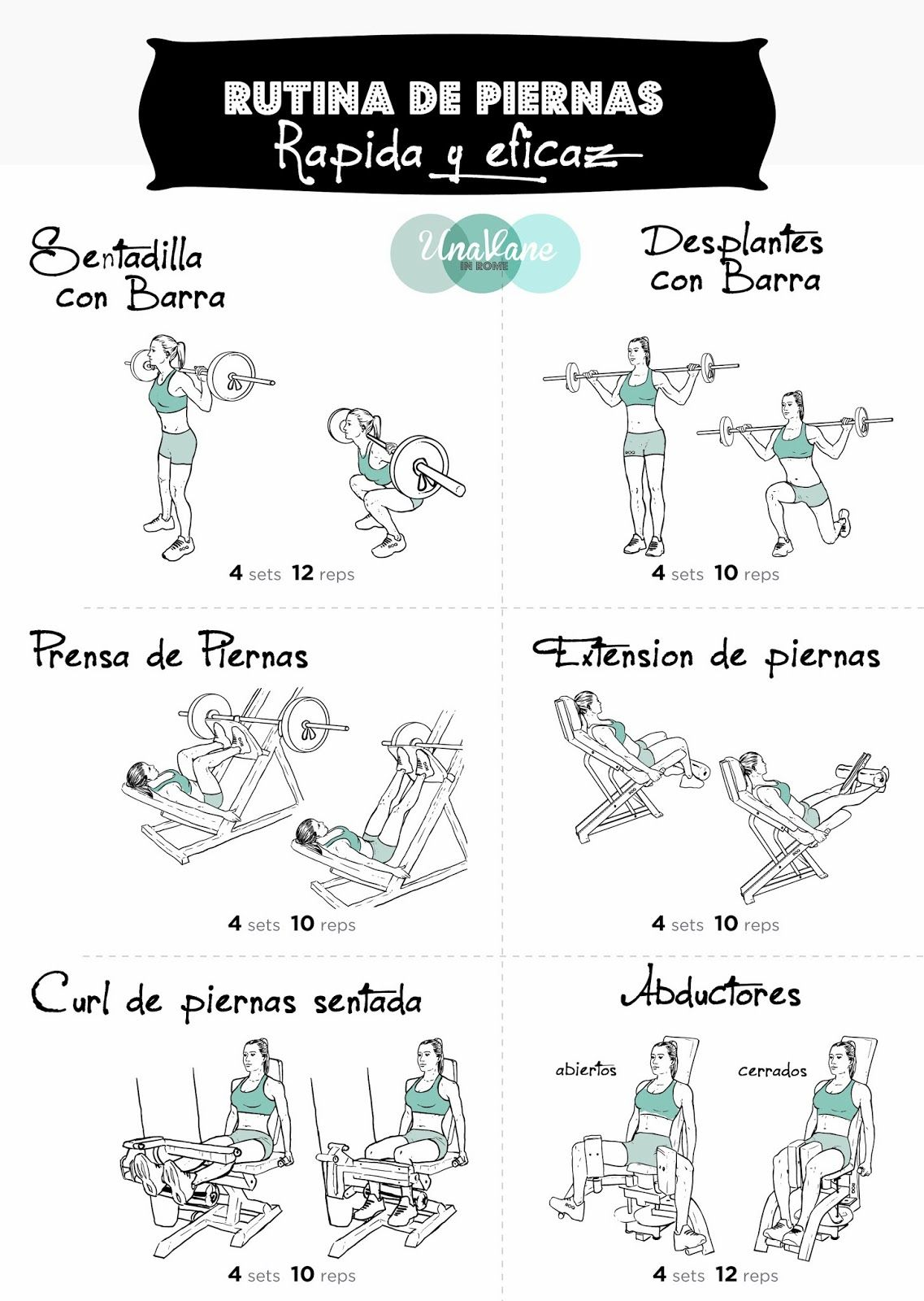 Una vane in rome rutina de piernas rapida y eficaz for Rutinas gimnasio