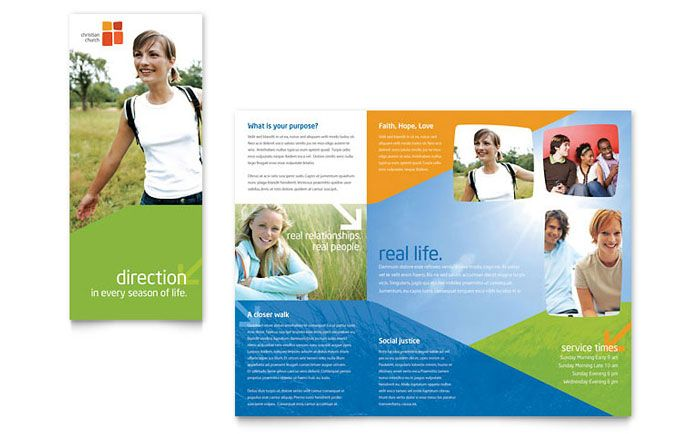 Church Youth Ministry Brochure Design Template by StockLayouts - free brochure design templates word