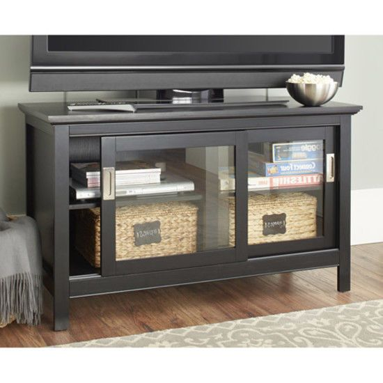 Tv stand media console sliding glass door storage furniture tv stand media console sliding glass door storage furniture entertainment center planetlyrics Choice Image