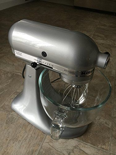 NEW Kitchenaid Stand Mixer Tilt 5QT Ksm150ps All Metal Artisan Tilt 10  Colors 6 Silver Metallic SM    Want To Know More, Click On The Image.
