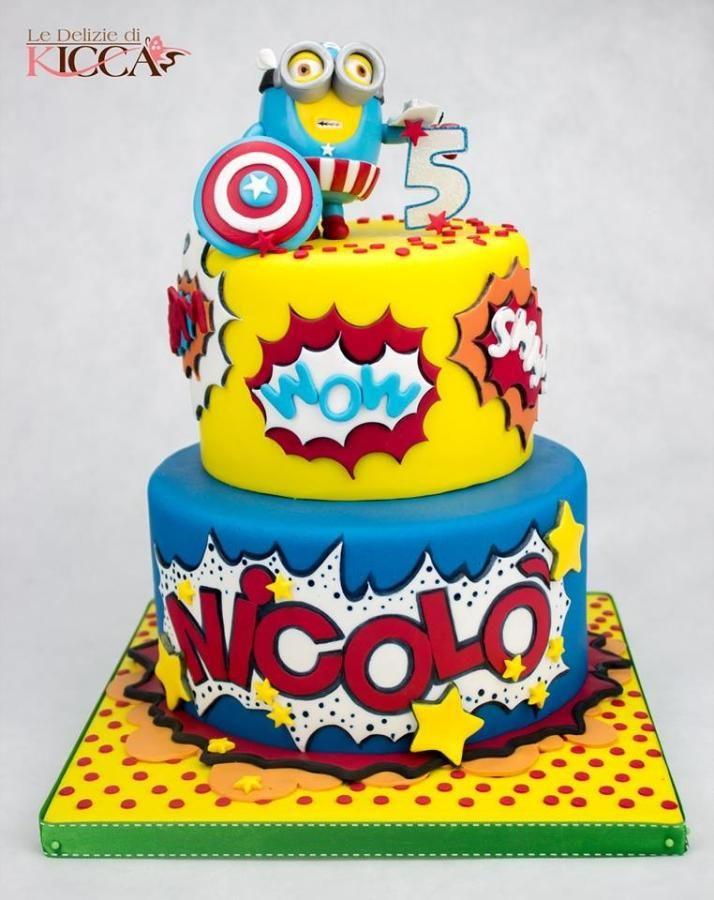 Avengers Minion cake Party Cakes Pinterest Minion