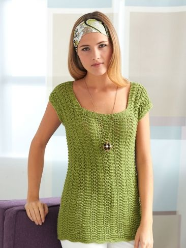 4 Row Feather and Fan Top | Yarn | Free Knitting Patterns | Crochet ...
