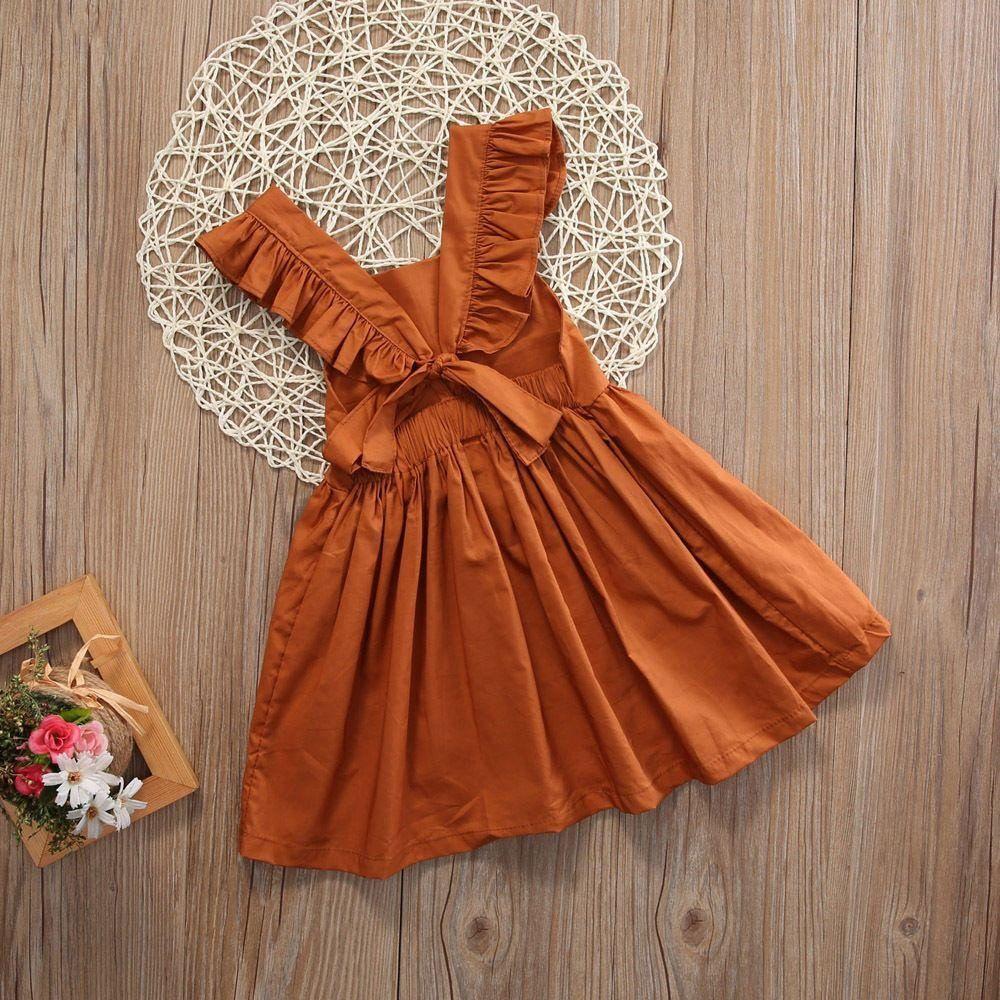 Girls bowknot sleeveless sundress llus style pinterest girls