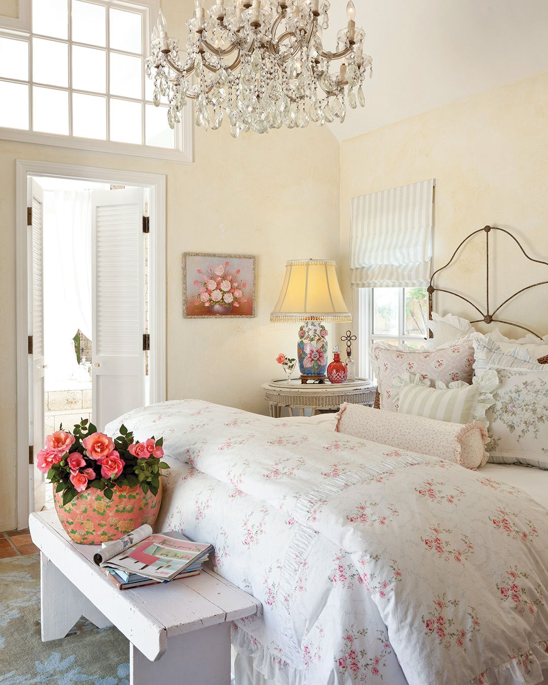 Shabby Chic Vintage Cottage Bedroom
