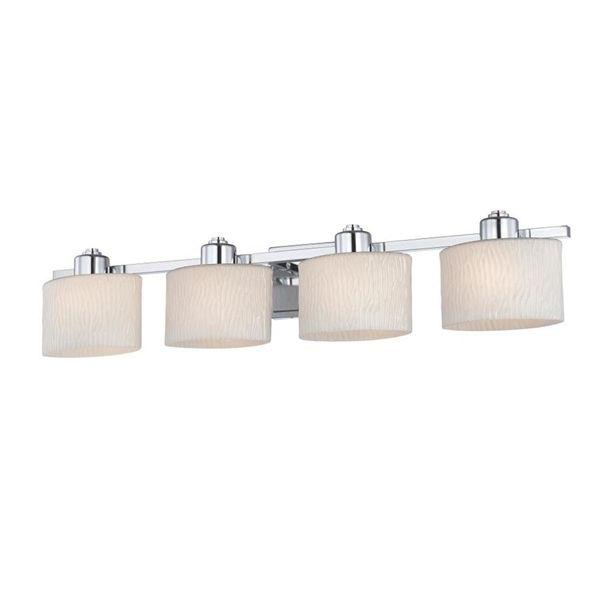 Shop allen roth 4 light grayson polished chrome bathroom vanity lights aloadofball Gallery