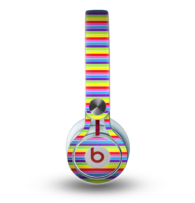 The Horizontal Multicolored Stripes Skin for the Beats by Dre Mixr Headphones