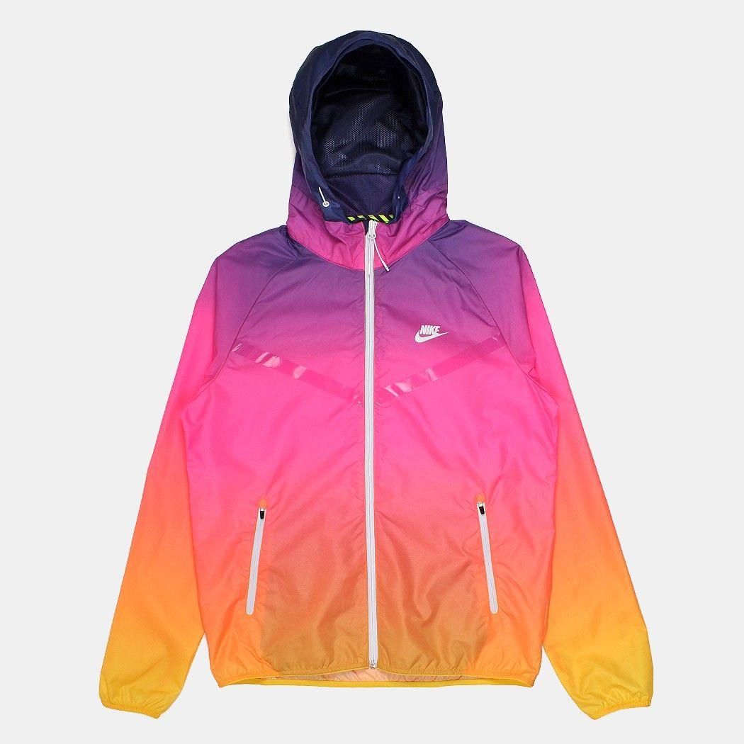 Nike RU Sunset Lightweight Windrunner Jacket - Pink Power White ... ab496907d