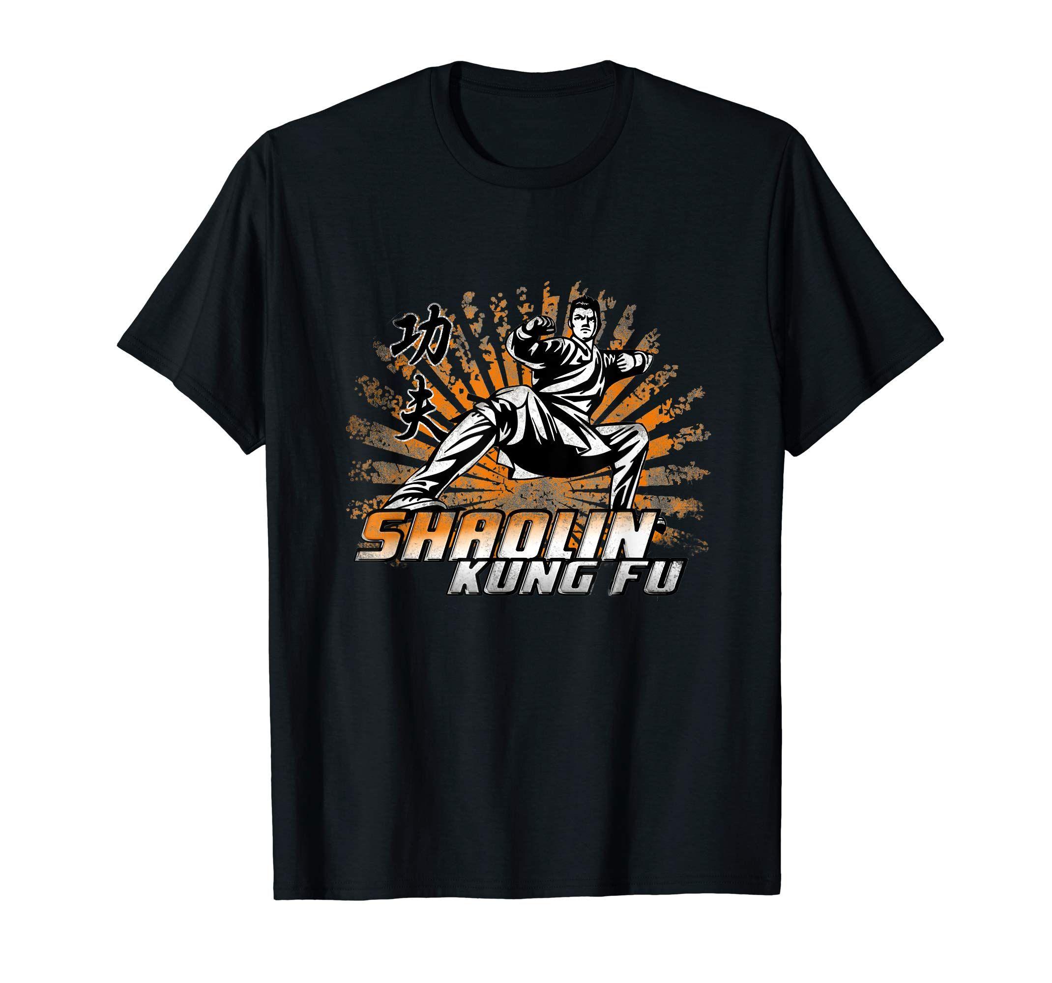 Amazon Com Shaolin Kung Fu T Shirt Gong Fu Master Chinese Martial Art Clothing Shaolin Kung Fu Chinese Martial Arts Shaolin