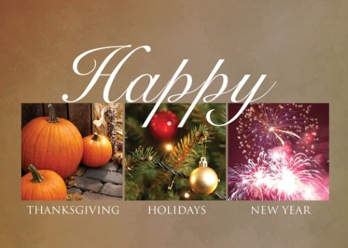 Thanksgiving greeting cards th1508 business greeting card thanksgiving greeting cards th1508 business greeting card featuring a pumpkin christmas tree and fireworks for the entire holiday season box set has 25 reheart Images