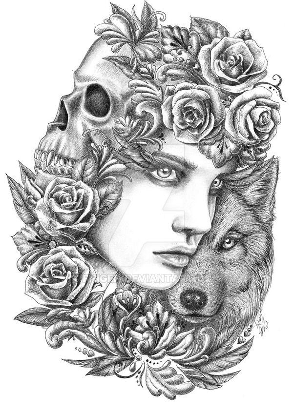 Wolf 2 by fnigen | Paper Art | Pinterest | Wolf, Color ...