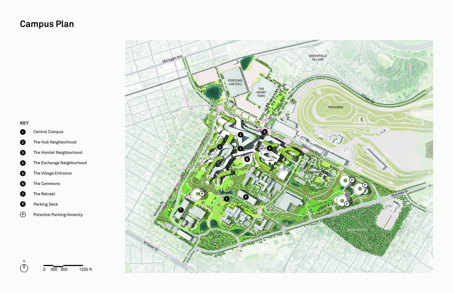 ford dearborn campus map Gallery Of Snohetta Develop Master Plan For Ford Motor Company In ford dearborn campus map