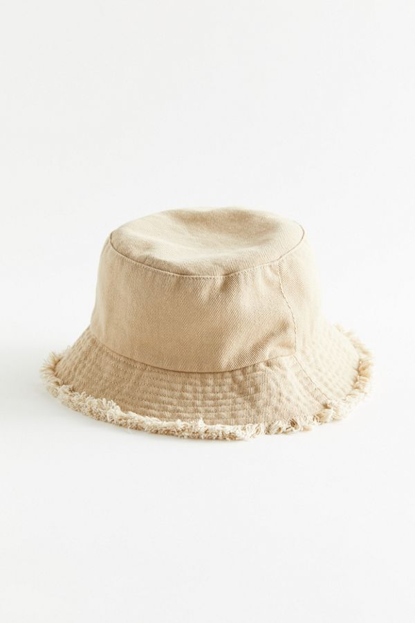 Uo Frayed Canvas Bucket Hat Also In Black Bucket Hat Fashion Outfits With Hats Hats