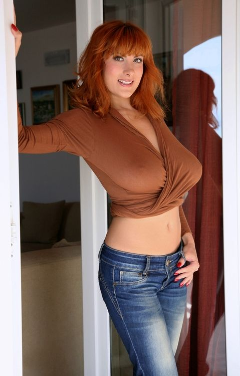 Chubby red head milf
