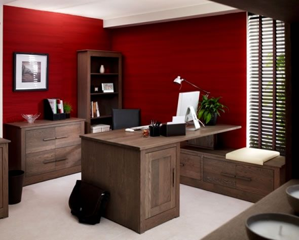 red office interior home office colors best office on best home office paint colors id=50073