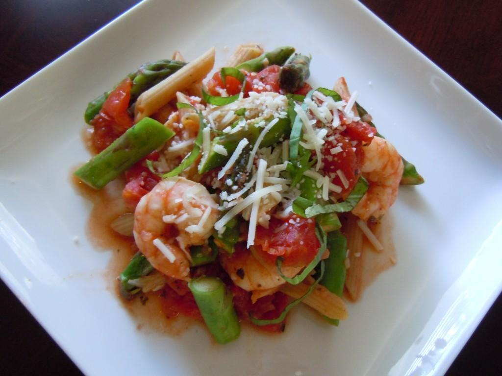 Image result for shrimp and asparagus over Penne