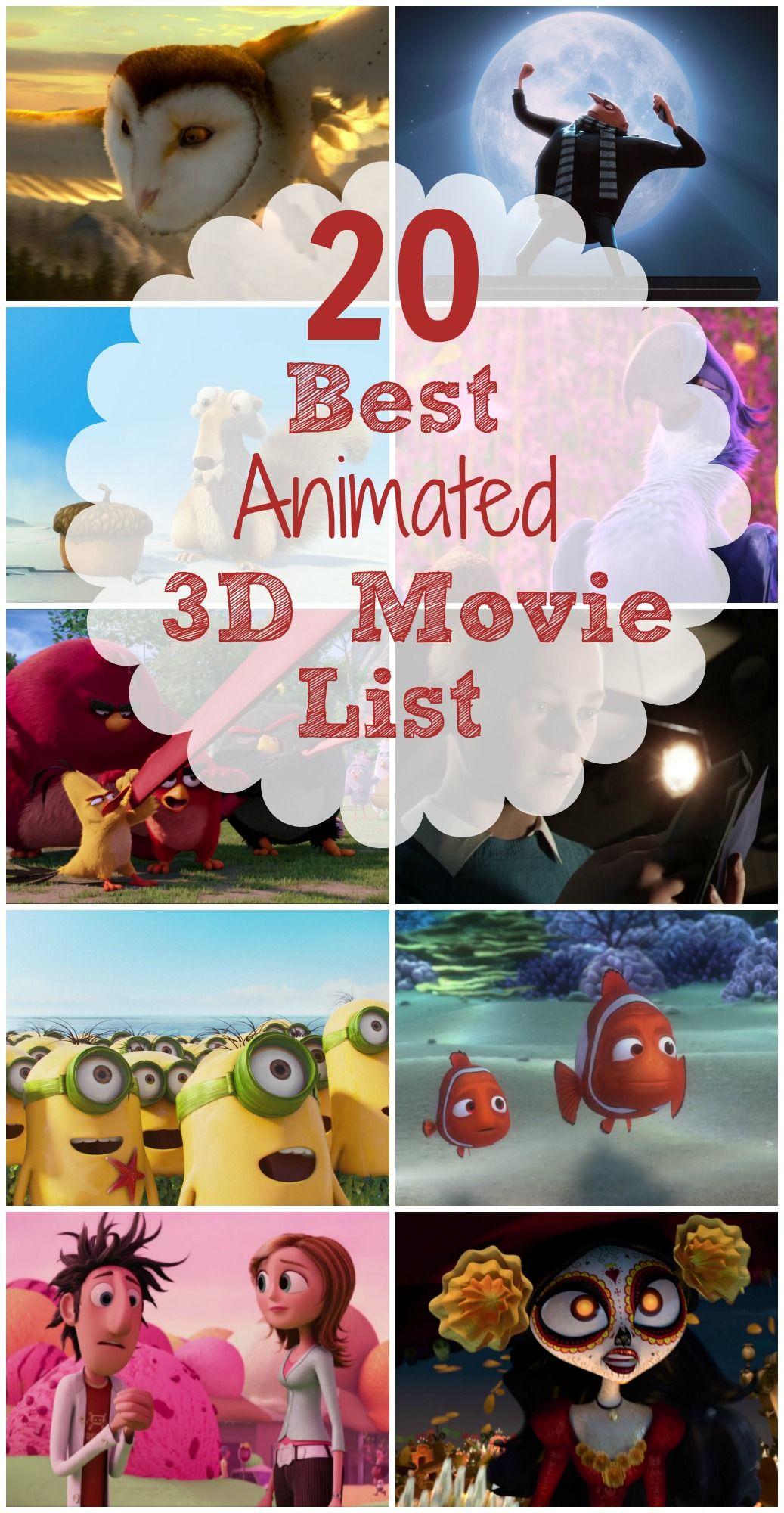 20 Best Animated 3D Movie List Good animated movies
