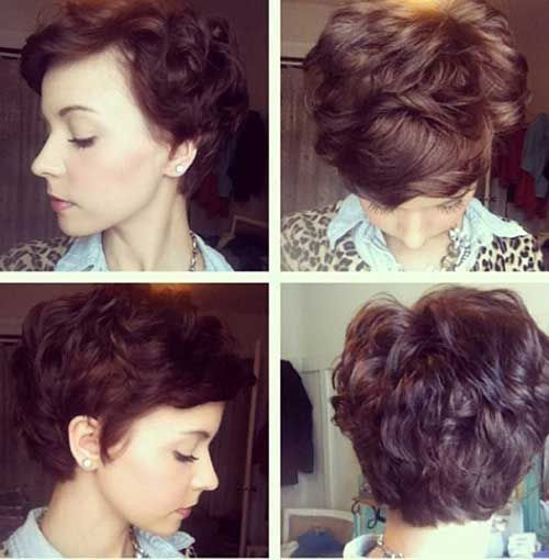 Curly Short Pixie Hairstyles Round Faces Thick Hair Styles Wavy Pixie Haircut Short Hair Styles