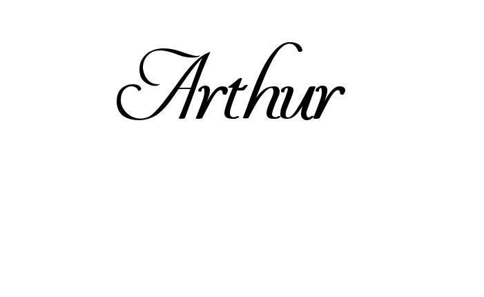 Tatuagem do nome Arthur  utilizando o estilo You Invited Heavy