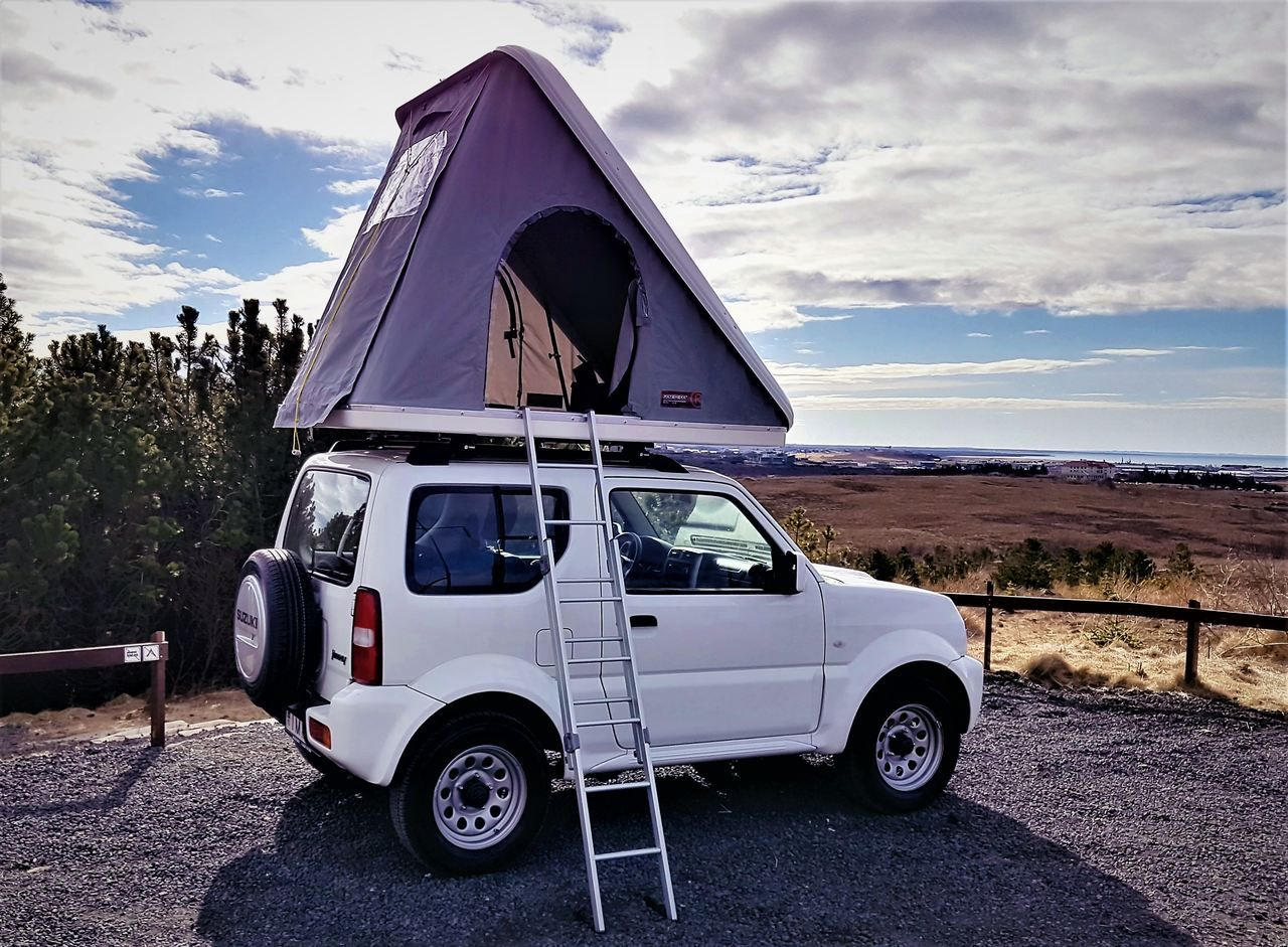 suzuki jimny roof tent camping iceland suzuki pinterest suzuki jimny tent camping and. Black Bedroom Furniture Sets. Home Design Ideas