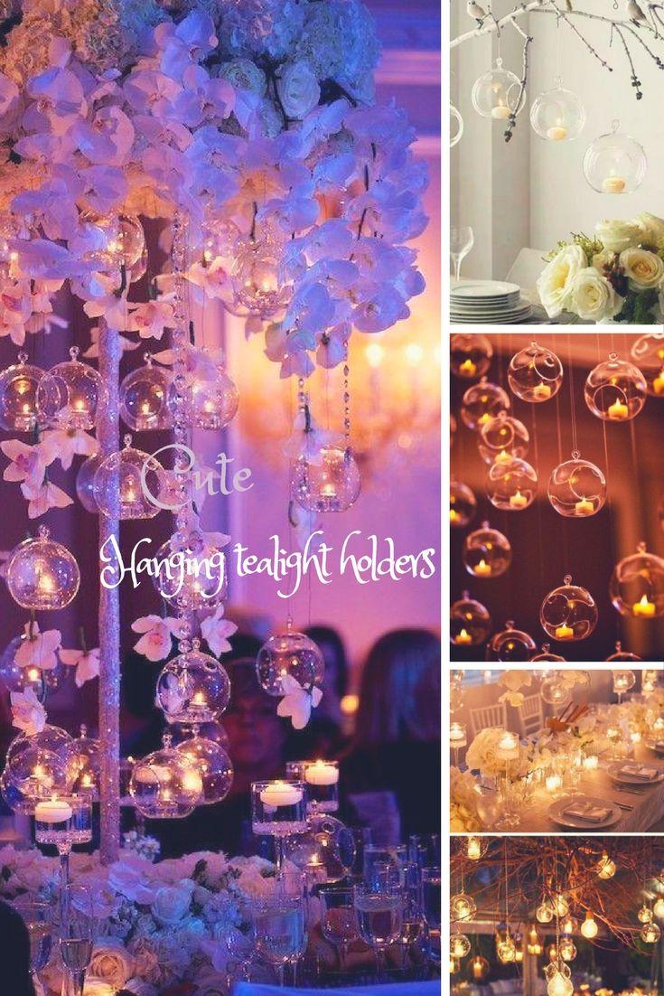 Enchanting 12PCS Glass Hanging Tealight Holder / Hanging Terrarium ...