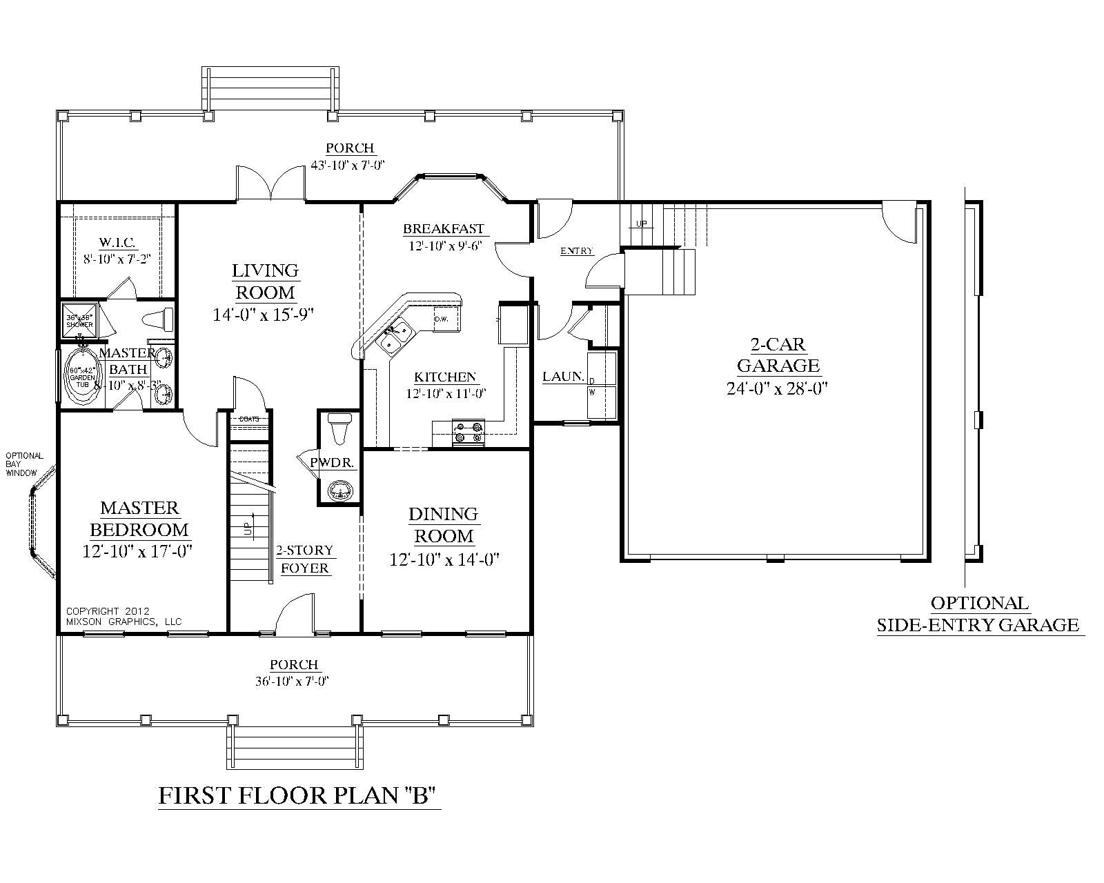 "Master Bedroom 1st Floor House Plans house plan 2091-b mayfield ""b"" second floor plan - colonial"