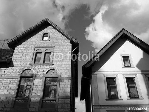Pittoreske Altbauten in der Haupstraße in Oerlinghausen im Teutoburger Wald bei Detmold