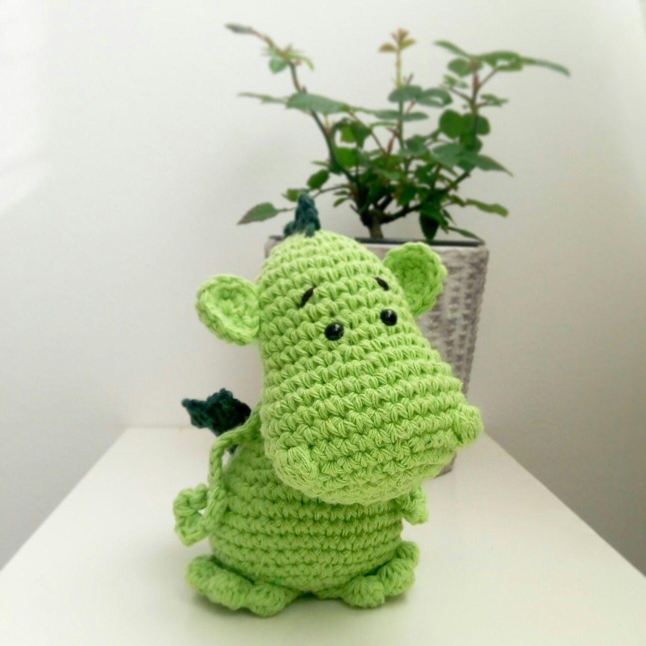 Drac de Sant jordi ganchillo crochet dragon patrón de lanukas ...
