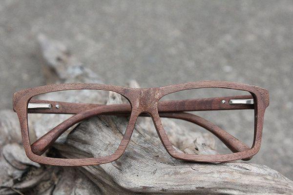 7dcc8a69c5 100% handmade designer wood optical glasses frames wooden eyewear frames  from balck walnut wood.  225.00