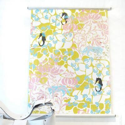 Very Cool Poster Hangers Shown With Curtain Panels Great For My No Paint Walls In My Apartment How To Hang Wallpaper Poster Hanger Paint Alternative