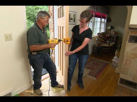 How To Hang A New Front Door In An Existing Frame This Old House Have To Do This To