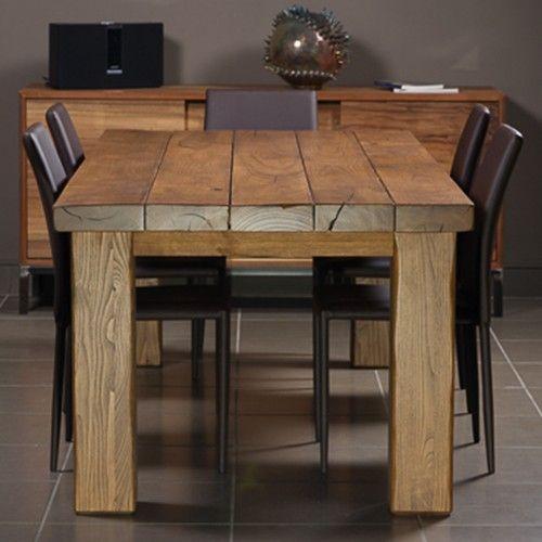 Tavolo Planar in legno invecchiato Sconto del 30
