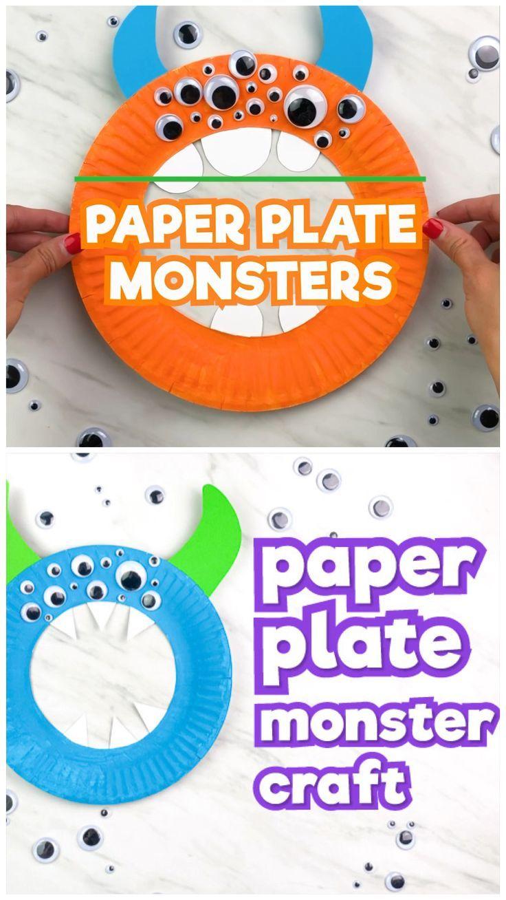 Easy Paper Plate Monster Craft For Preschool